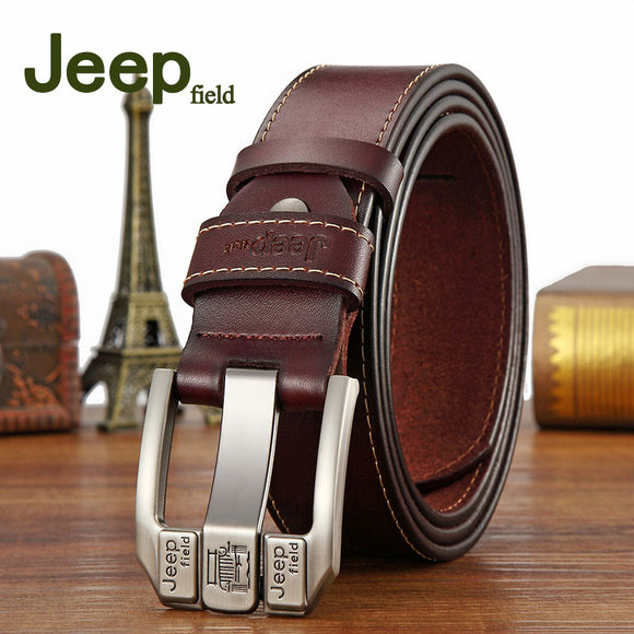 Jeep field Strap Male Genuine Leather belt Designer buckle men's Belt