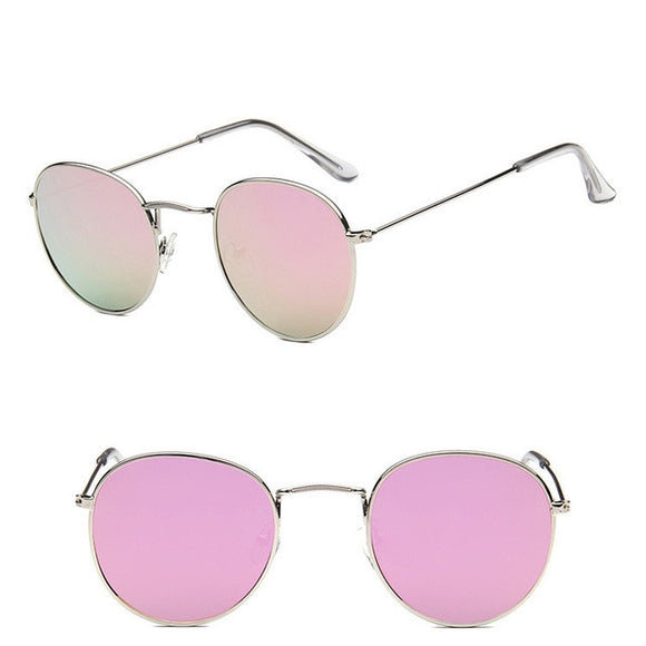 Metal Round Vintage Sunglasses Women Mirror Classic Retro Street