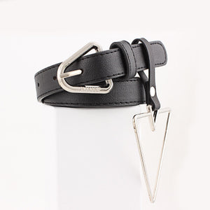 New Women's Ring leather narrow belts for woman jeans belt Feminine