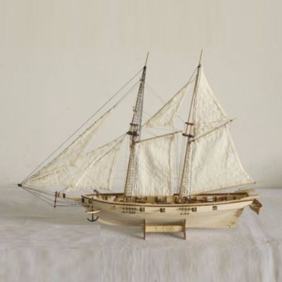 1:100 Scale Handmade Wooden Wood Sailboat Ship Birthday Gift