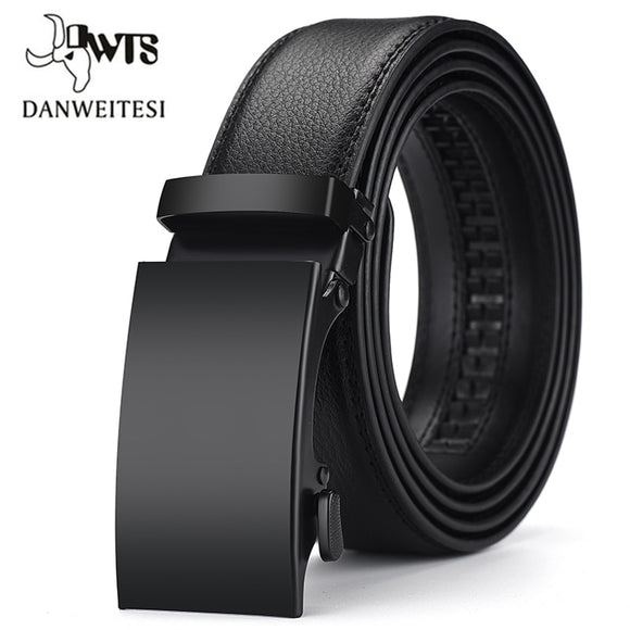 [DWTS]Genuine Leather Belts For Men Automatic Male Belts Cummerbunds Leather Belt Men dropshipping Black Belts cinturon hombre