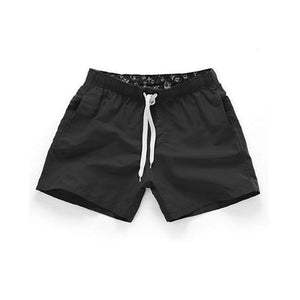 Summer Men's Shorts Mid Waist Beach Shorts Solid Colors