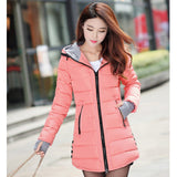 women winter warm coat plus size cotton padded jacket