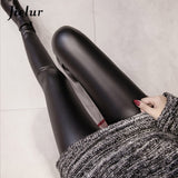 Leather Leggings Women Skinny Pants