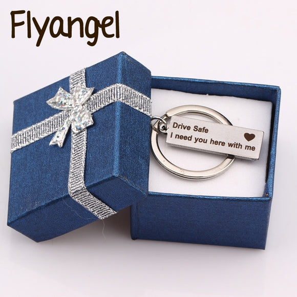 Engraved Keychain Keyring Gift Box Color Randomly