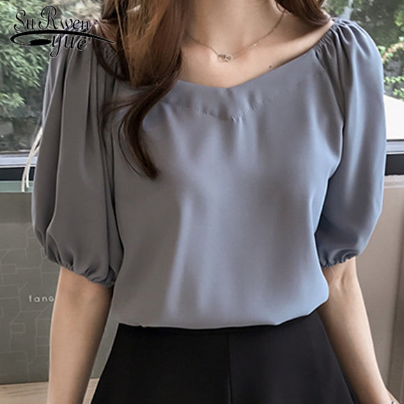 Feminine biouse fashion  women women blouse shirt blusas feminians