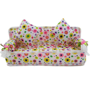 1 Pcs Mini Sofa Play Toy F Furniture Sofa With 2x Doll Couch Doll House