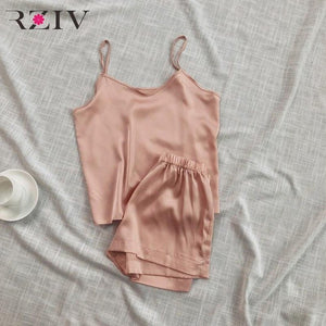 RZIV Summer Women's Pajamas Set Casual Pure Piece Short Set For Women