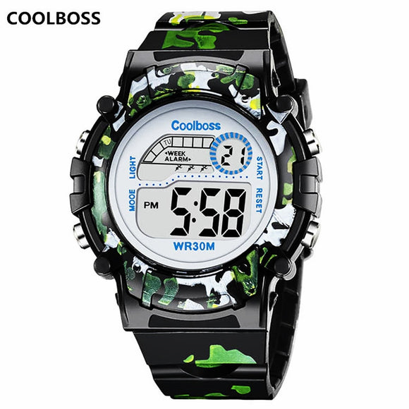 Camouflage Watches Children Waterproof Sport Gift Relojes Army Green
