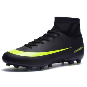 ZHENZU Outdoor Men Boys Soccer Shoes Football Boots