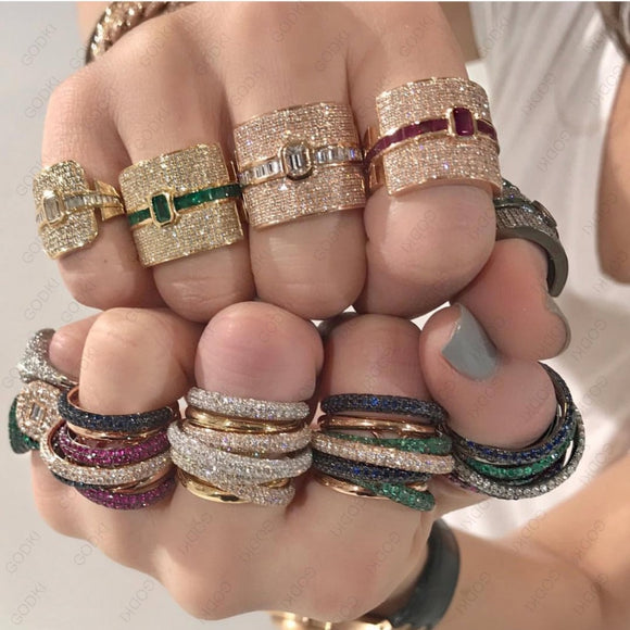 Luxury Statement Stackable Ring For Women