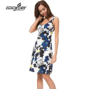 New Summer Fashion Sweet Style Women  Dresses Vestidos Cotton Dress