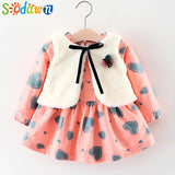 Sodawn Baby Girls Dress Autumn and Winter Girls