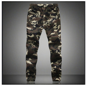 Mens Pencil Harem Pants Camouflage Military Pants Loose Cargo Trousers