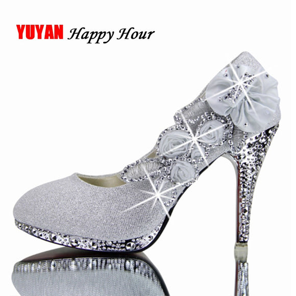 Colorful Wedding Shoes Women Pumps Sexy Ladies Super High Heels