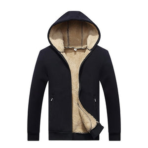 Grandwish Hoodies Men Hooded Casual Wool Winter Thicken Warm Coat
