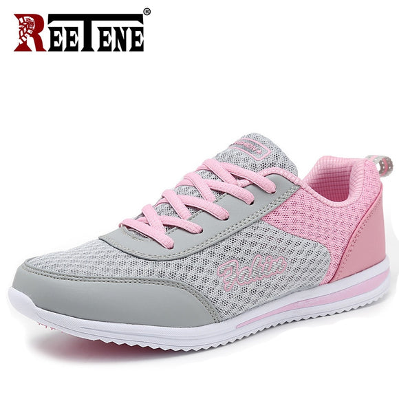 REETENE 2019 Fashion Women Sneakers Breathable Air Mesh Shoes For Women Summer Outdoor Female Flats Fashion Women'S Shoes