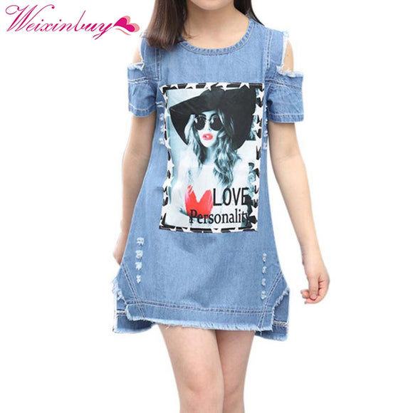 Clothing For Girls 5 to 9 Years Girls Denim Dress Girls Summer Dresses