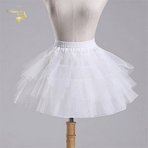 White Black Ballet Petticoat Tulle Ruffle Short Petticoats Lady Girls