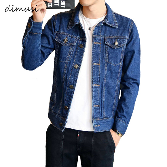 DIMUSI Spring Autumn Mens Denim Jacket Mens Trendy Fashion Bomber Thin Ripped Denim Jacket Male Cowboy Jeans jackets