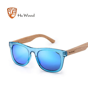 Hu Wood Kids Polarized Sunglasses for Boys and Girls with Recycled Frames and Beech Wood Arms | 4 to 8 years