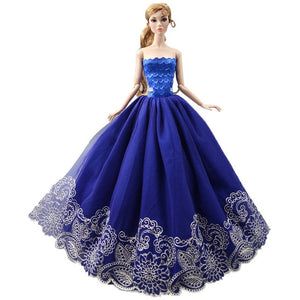 2020 Princess Wedding Dress Noble Party Gown For Barbie Doll