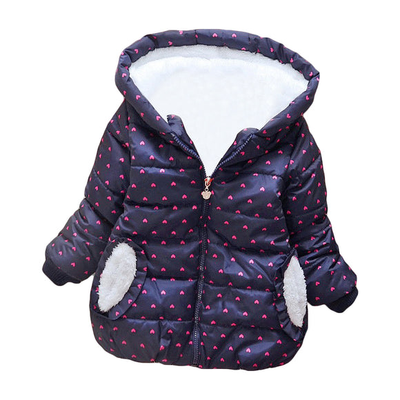 2019 girls fashion warm outwear cute cotton winter clothes jackets for kids