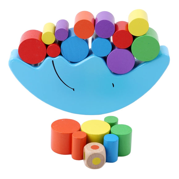 Baby Early Learning Toy Wood Moon Balancing Educational Toys Building Blocks Kids Children Balancing Toy