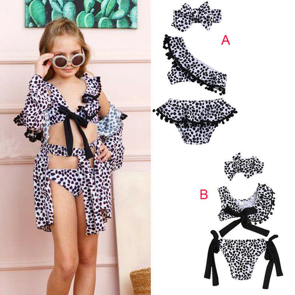 New Fashion Toddler Baby Leopard Print Swimsuit Bikini Sets