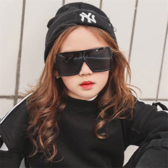 2019 oversize square kids sunglasses girls baby boys festival punk sunglasses uv400 glasses children oculos de sol masculino