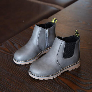 2020 New Autumn Children Shoes PU Boys Rubber Boots Fashion Sneakers