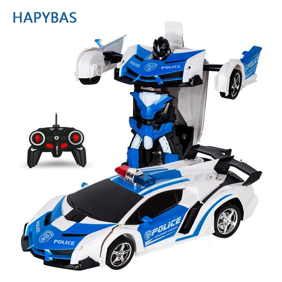 RC Car Transformation Robots Sports Model Car Kids Toys  Gifts For Boys