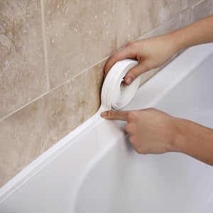 Bathroom Shower Bath Strip Tape White PVC Self adhesive Waterproof