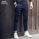 Enjeolon Mens Jeans Brand Black Jeans Men Fashion Long Trousers Mens Denim Jeans Pants Clothes