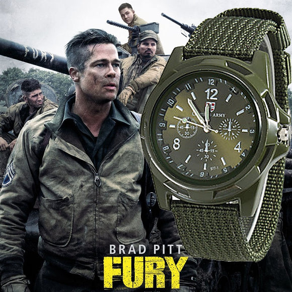 Mens Nylon Military Genius Army watch High Quality Quartz Movement