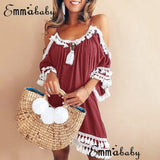 Women's Summer Sexy Casual Off Shoulder Party Cocktail Beach Short Mini Dress