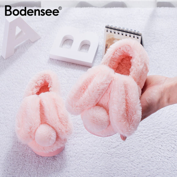 Bodensee Kids Cotton Home Slippers Cute Cartoon Bedroom Indoor Shoes