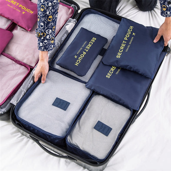 High quality 6pcs/set luggage Travel organizer bag large for unisex