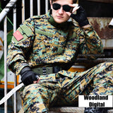 Woodland Digital Camouflage Suit Paintball Clothing Sets