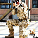 Woodland Digital Camouflage Suit Paintball Clothing Sets Army Military Tactical Uniform Combat Airsoft Uniform Jacket + Pants