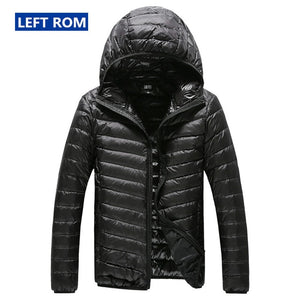 New Warm Fashionable Feather Hooded Down Jacket for Men