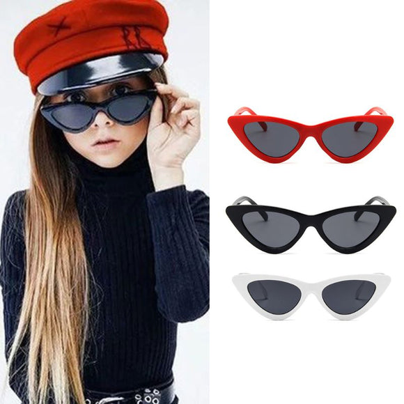 Cat Eye Kids Sunglasses Child Anti-uv Baby Sun-shading