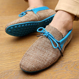 2019 LAISUMK Men Shoes Summer Breathable Fashion Weaving Casual Shoes Soft Lace-up Comfort Men's Loafers Driving