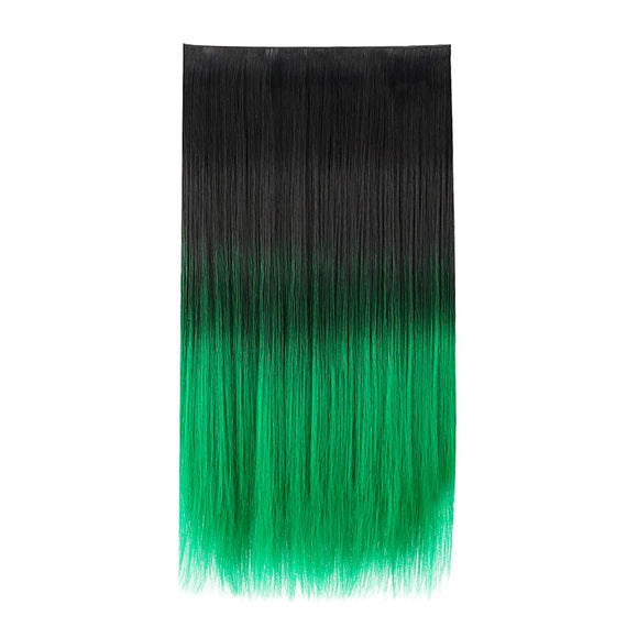 Rainbow Synthetic 5 clip in wigs hair extensions Wigs For Women