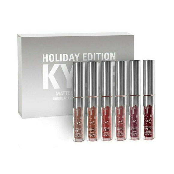 Kylie jenner Cosmetics Holiday Edition-6PCS Long Lasting Lip Gloss