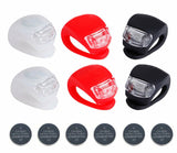 Deruicent 6pcs/Set Bicycle Lights Super Frog Silicone LED Bike Light