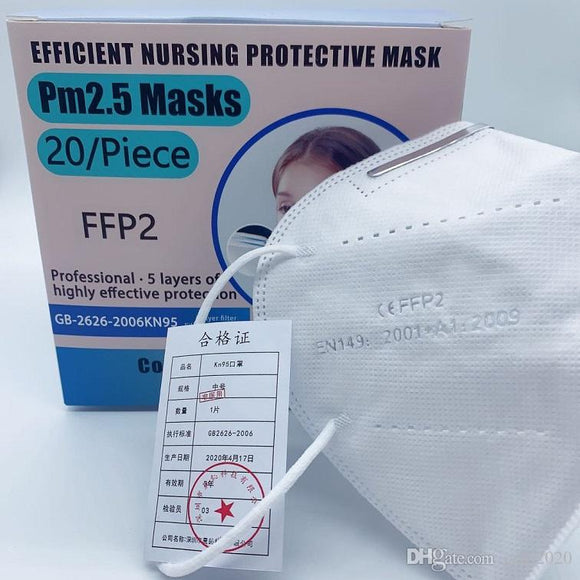 1 Pcs KN95 FFP2 certification Mask Anti Dust Protective Dustproof PM2.5 Mask