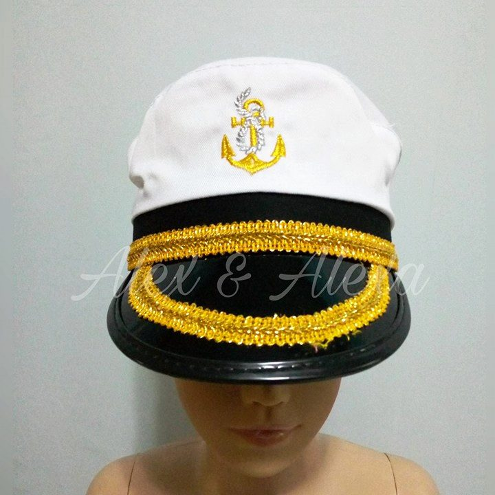 MARINE SAILOR SHIP CAPTAIN HAT - Kids Career Community Helper Costume Accessory - Alex u0026 Alexa ... : kids marine costume  - Germanpascual.Com
