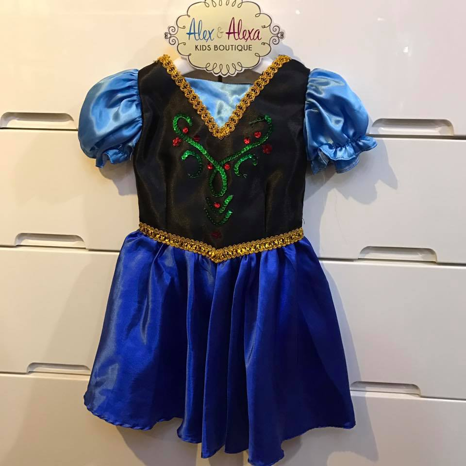 DISNEY PRINCESS ANNA ADVENTURE Couture Baby Ballgown Costume - ALEX ...
