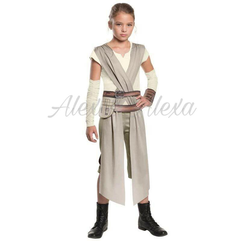 ... STAR WARS REY DELUXE Kids Girls The Force Awakens Movie Costume - Alex u0026 Alexa Costume ...  sc 1 st  Alex and Alexa Costume Boutique and Photography Studio & STAR WARS REY DELUXE Kids Girls The Force Awakens Movie Costume ...
